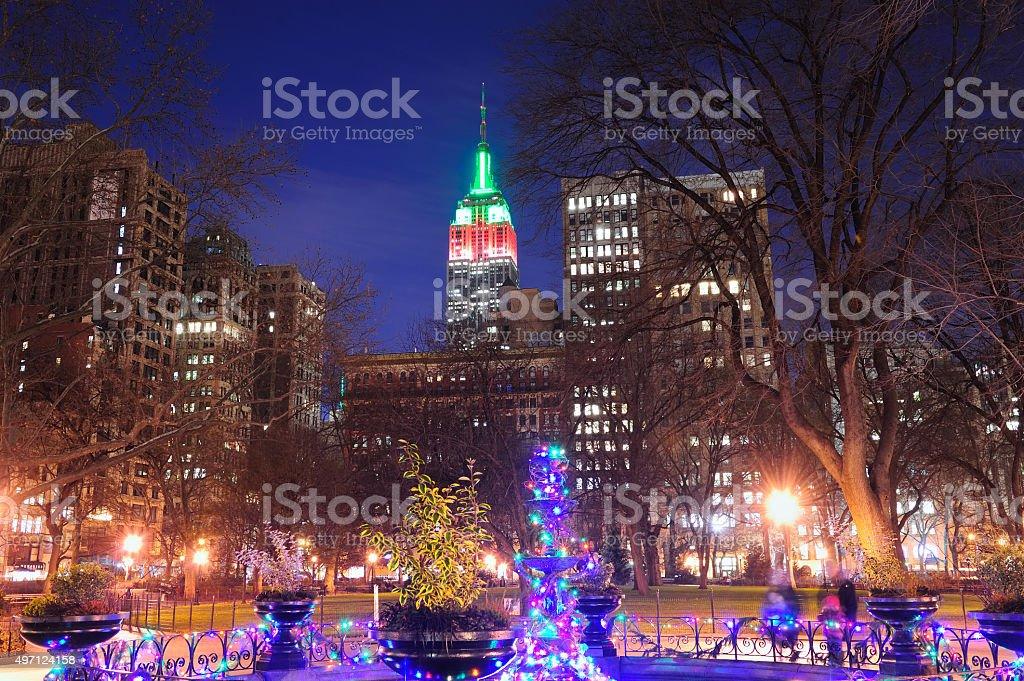 New York City Christmas stock photo