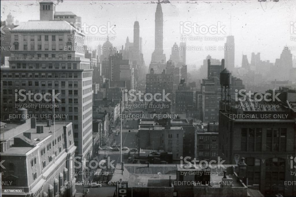 New york City, city view, 1951 stock photo
