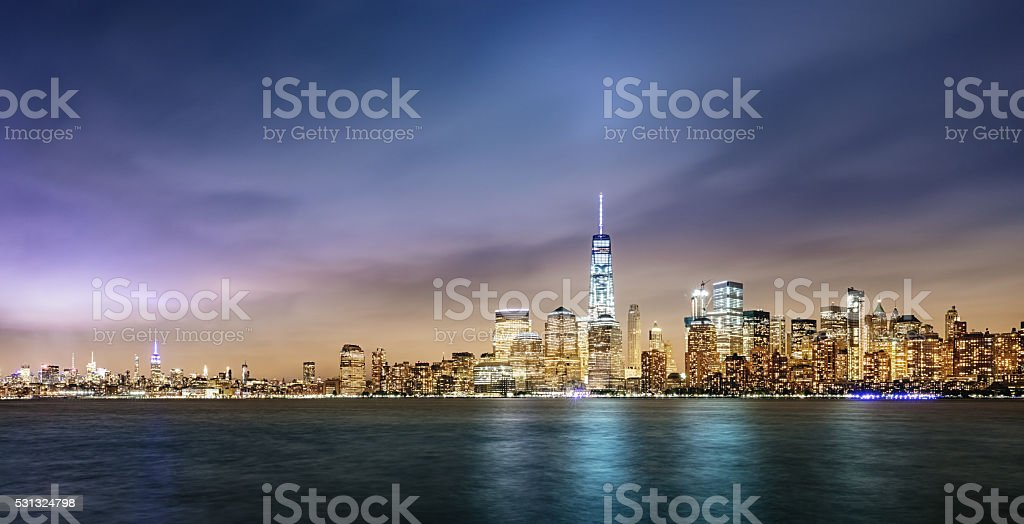 New York City Cityscape Panorama stock photo