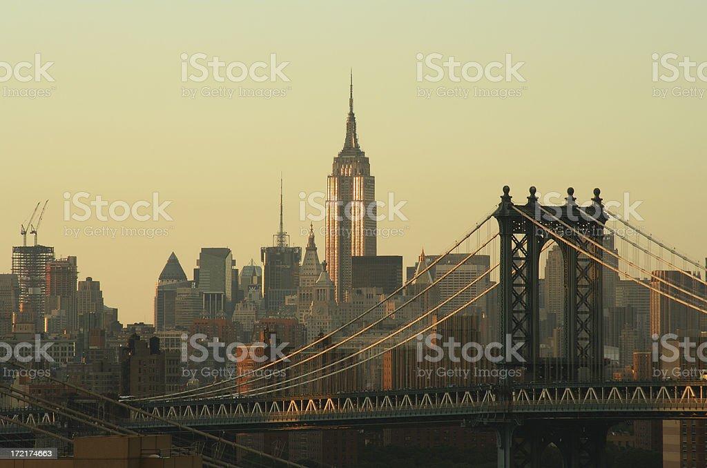 New York City Cityscape Sunrise royalty-free stock photo