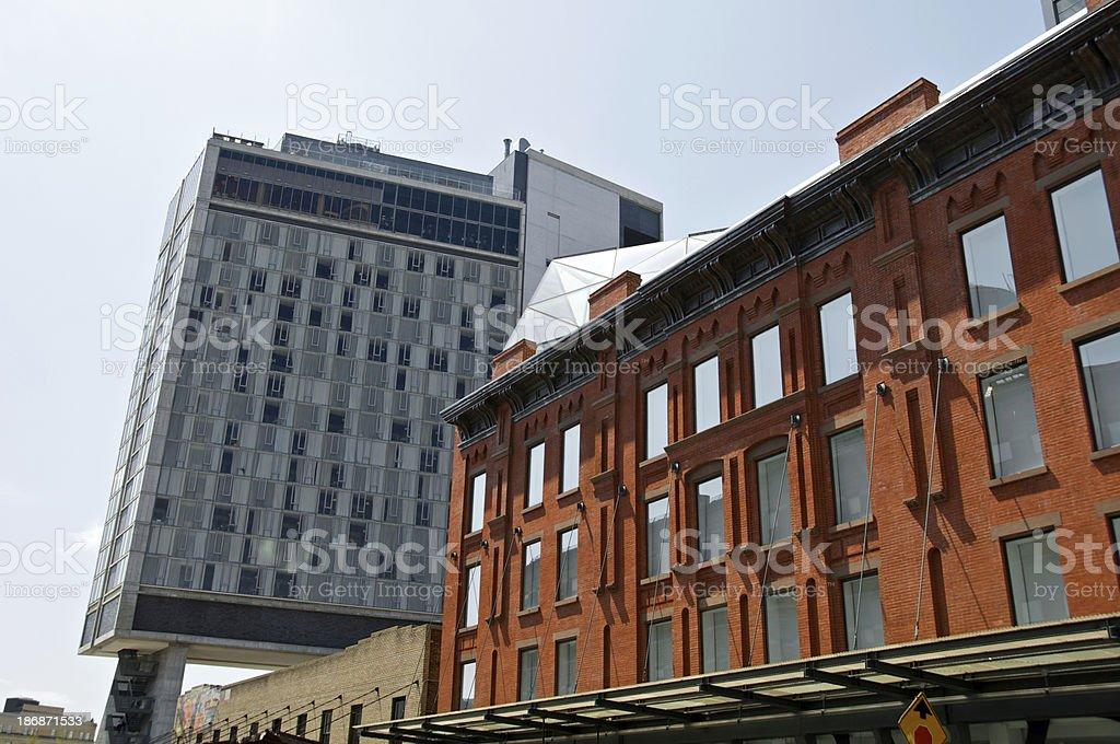 New York City Cityscape, Washington Street, Meatpacking District. stock photo