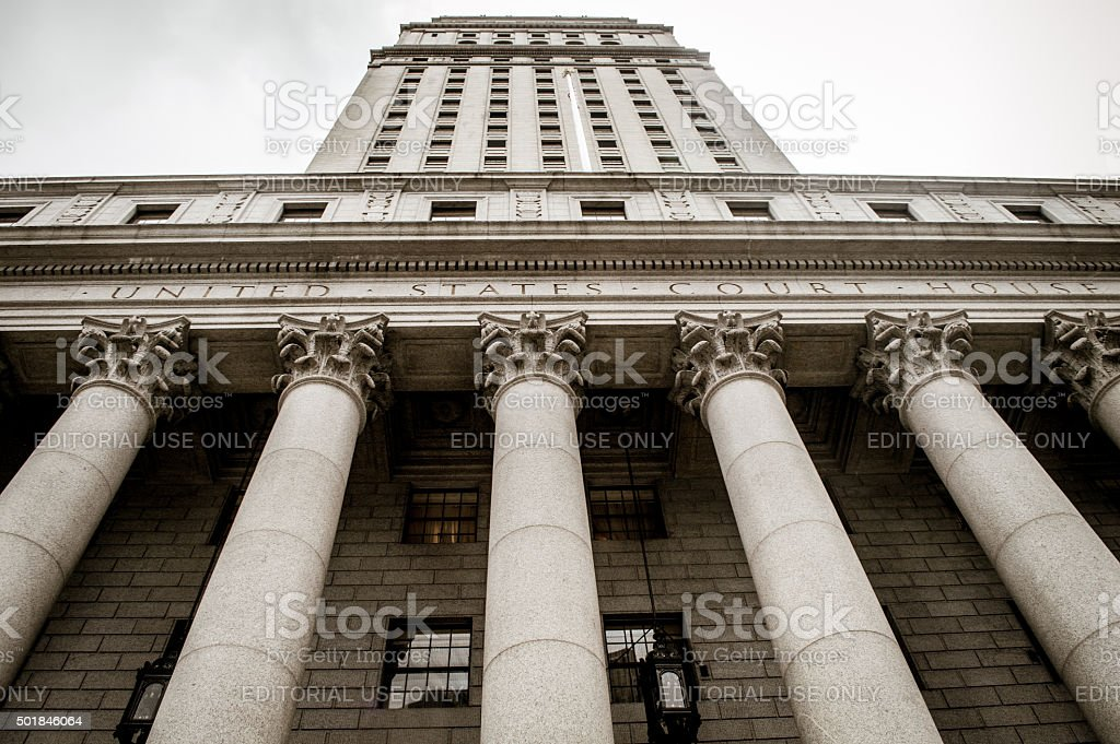 New York City Courthouse stock photo