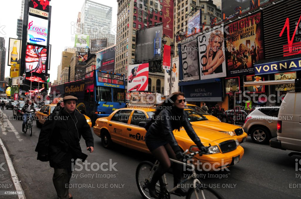 New York City Cycling stock photo