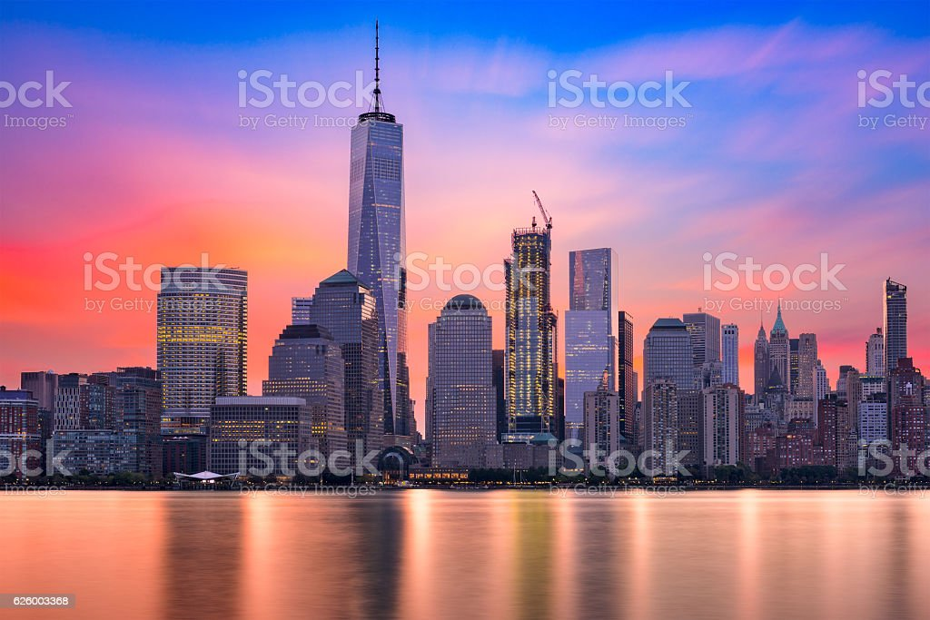 New York City Dawn stock photo