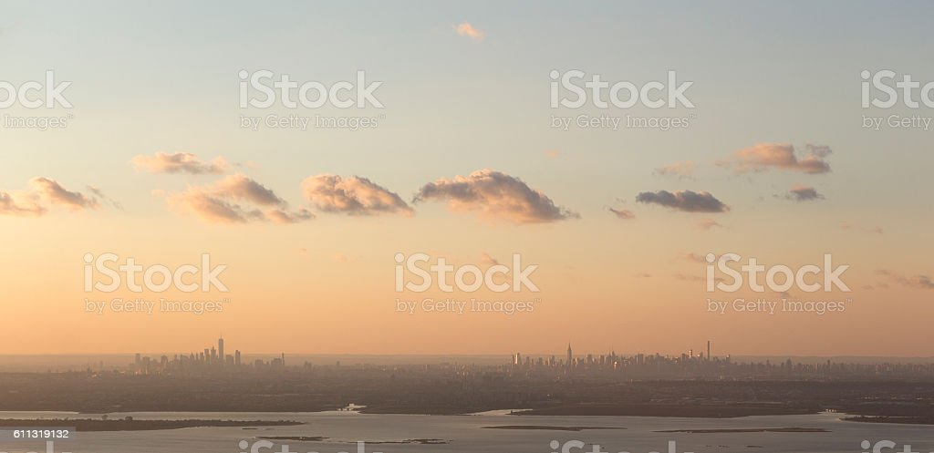 New York City Downtown and Midtown Manhattan stock photo