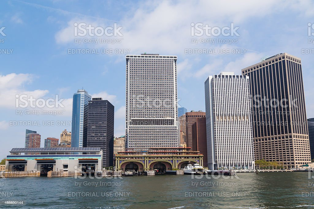 New York City Downtown Skyline stock photo