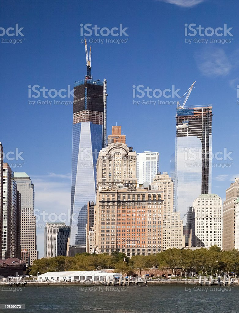 New York City Downtown w the Freedom tower royalty-free stock photo