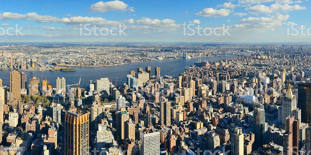 New York City eastside stock photo