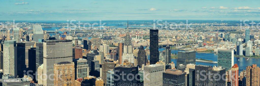 New York City eastside stock photo