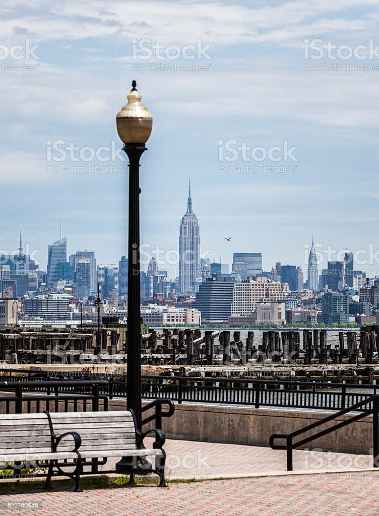 New York City Empire State Building Urban Cityscape Skyline stock photo
