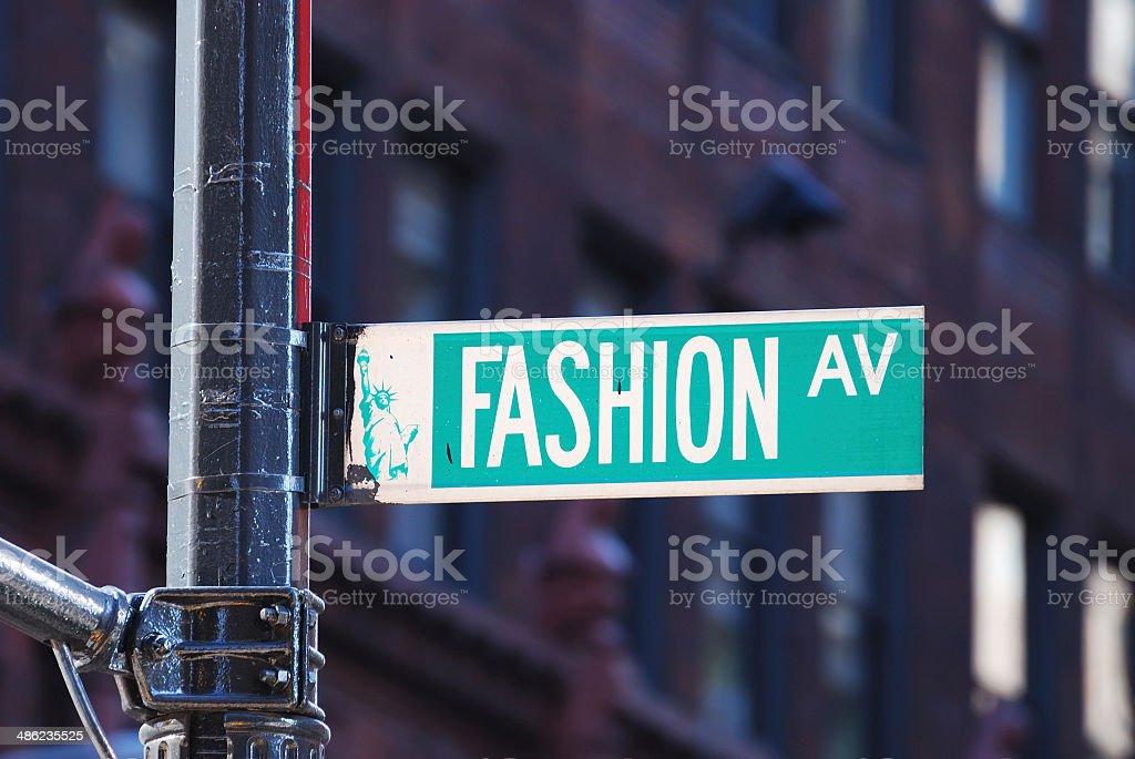 New York City Fashion avenue royalty-free stock photo