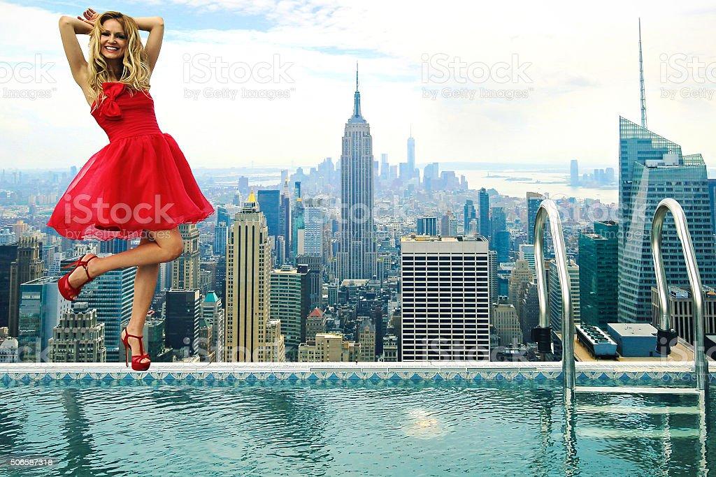 NEW New York City Fashion Model stock photo
