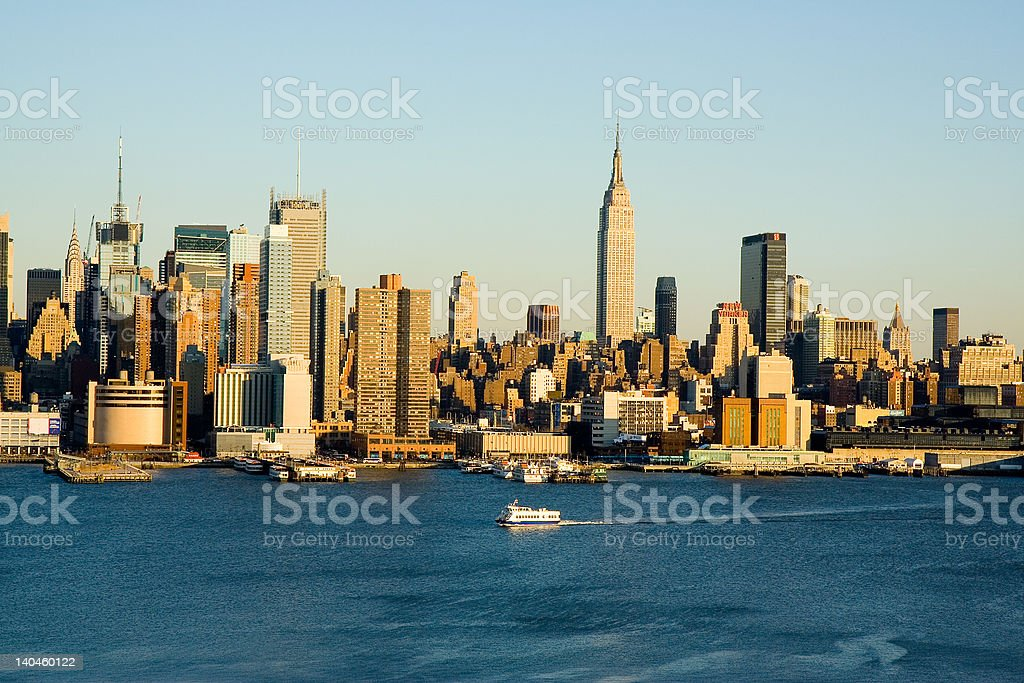 New York City Ferry Boat royalty-free stock photo