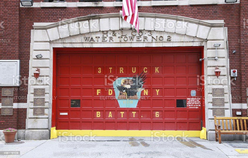 New York City fire department door stock photo
