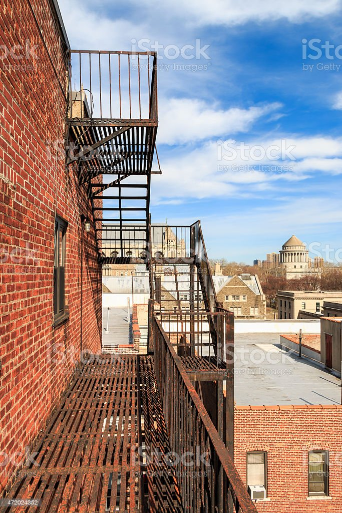 New York City Fire Escape stock photo