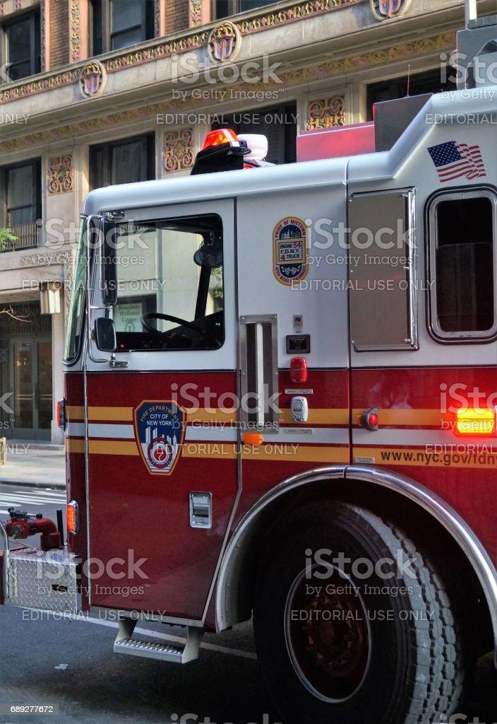 New York City Fire Truck stock photo