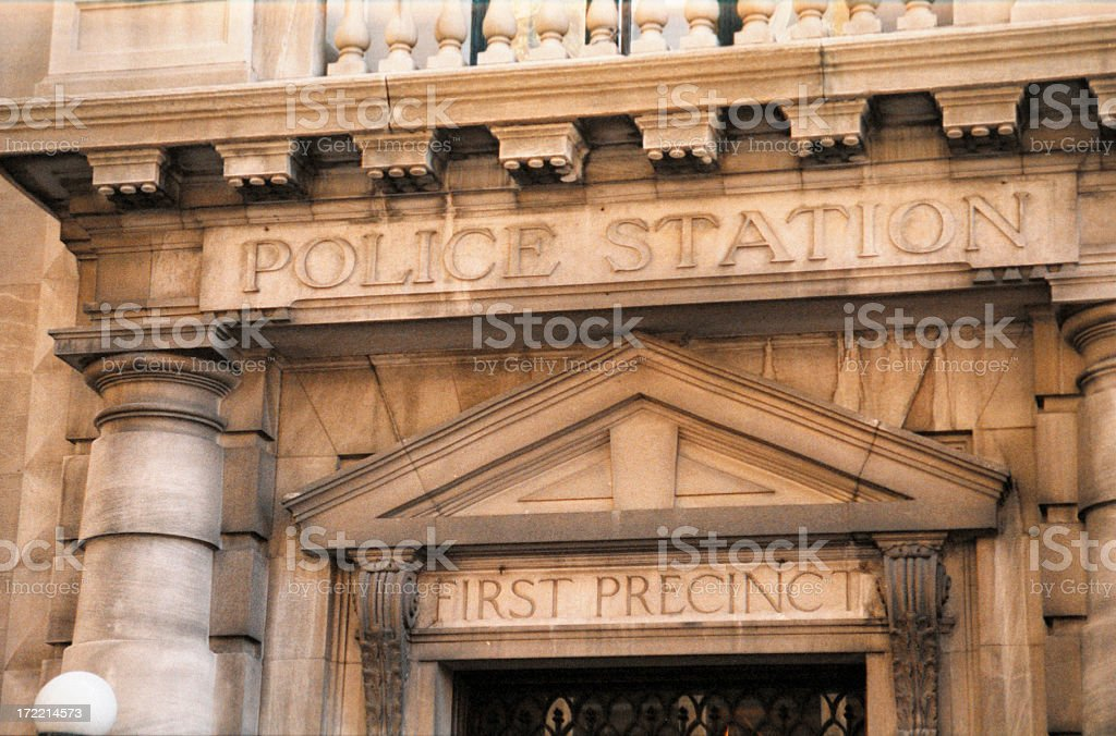 New York City first precint police station stock photo
