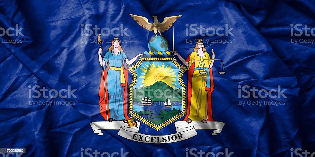 New York city flag stock photo