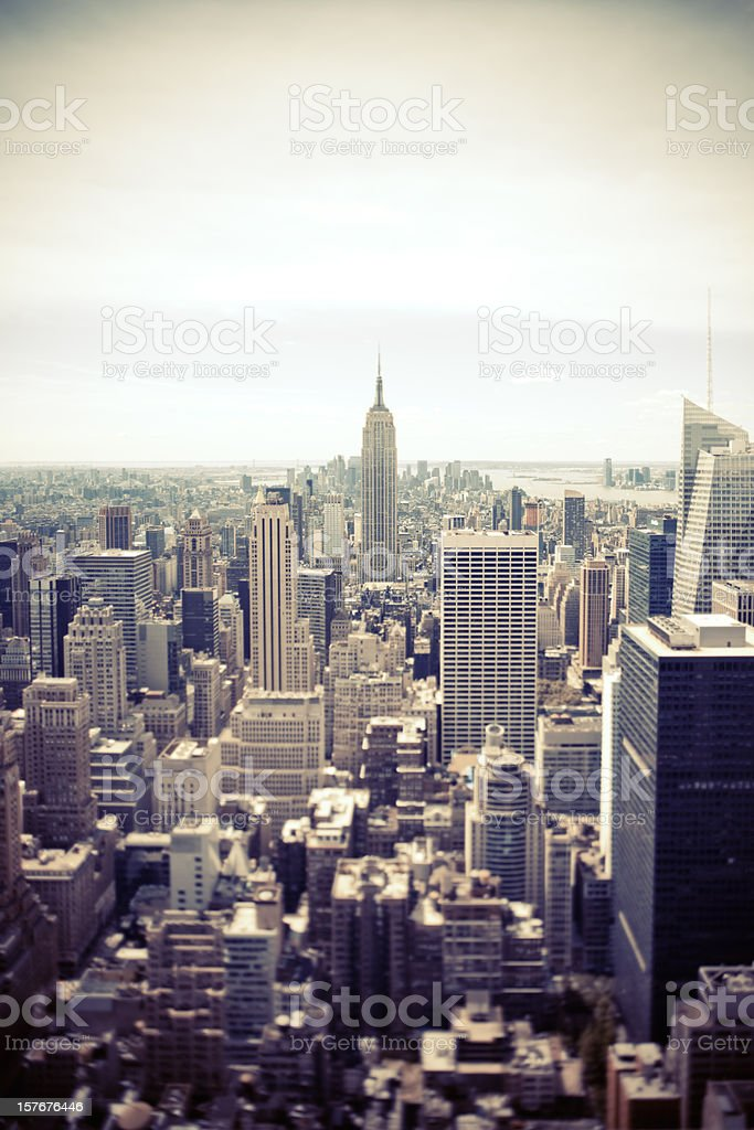 New York city from Above royalty-free stock photo