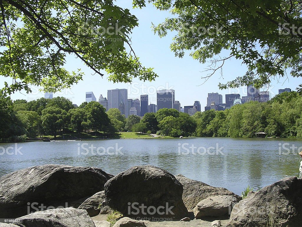 New York City from Central Park stock photo