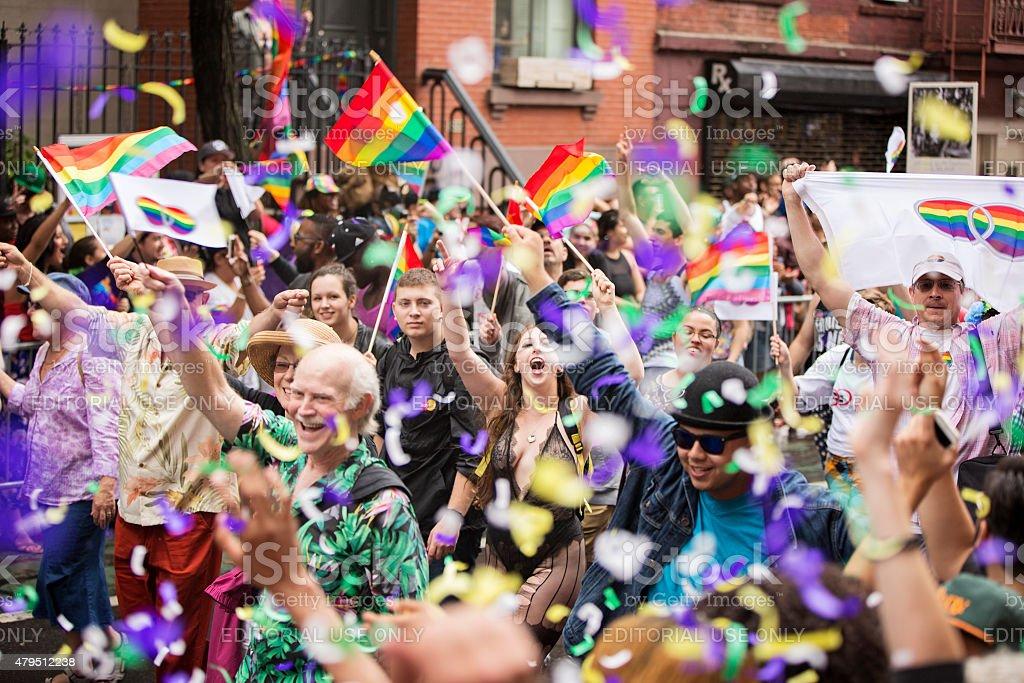 New York City Gay Pride Parade 2015 stock photo