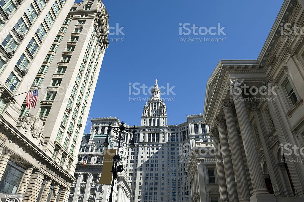 New York City Hall stock photo