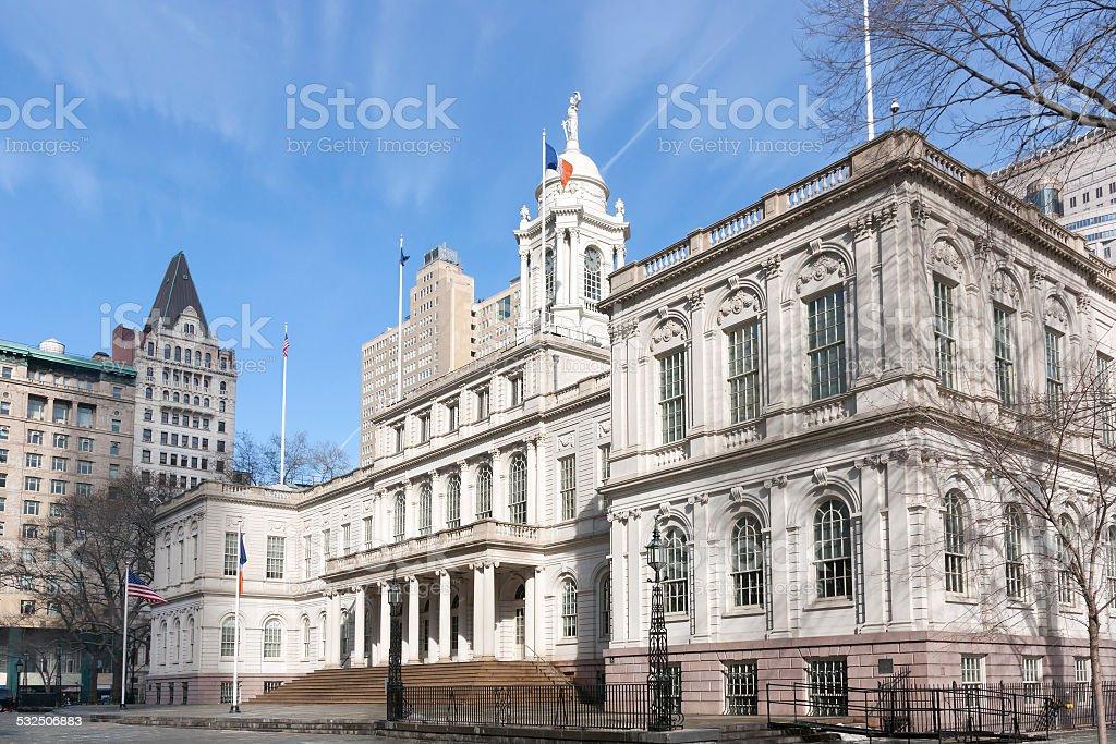 New York City Hall stock photo