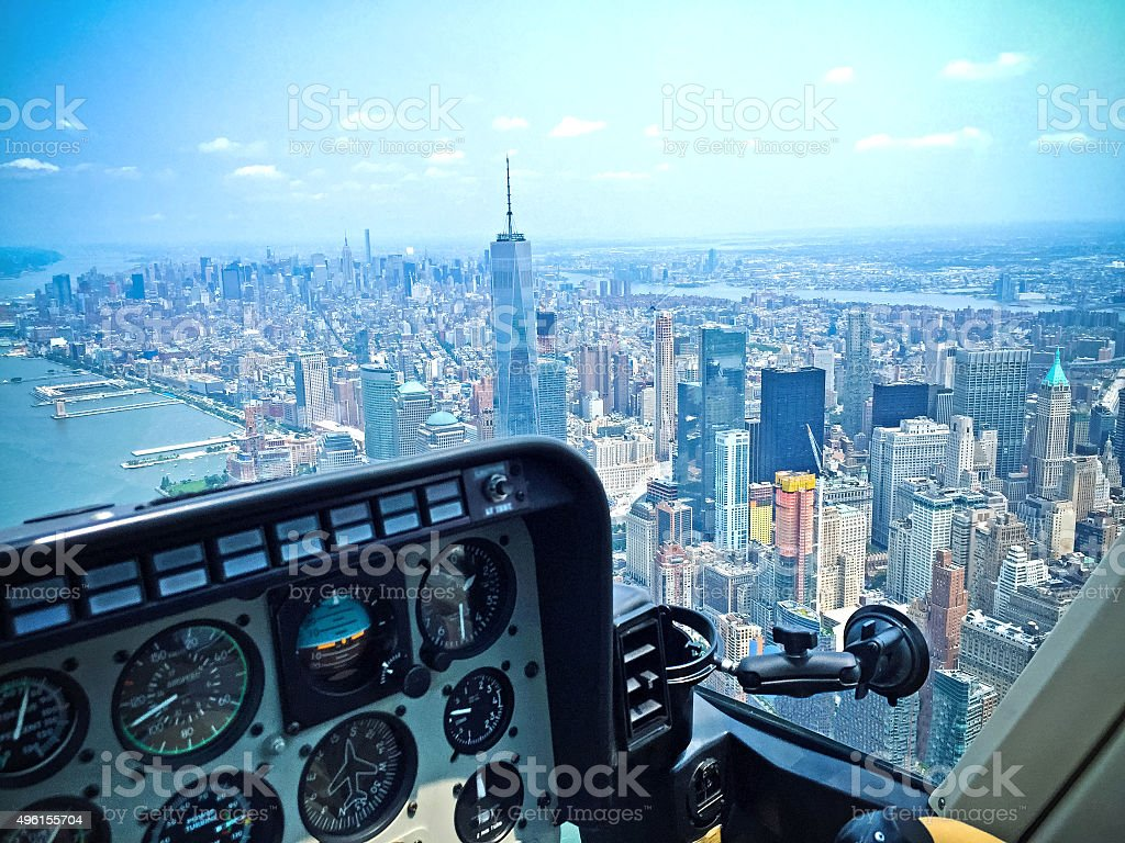 New York City Helicopter Ride stock photo