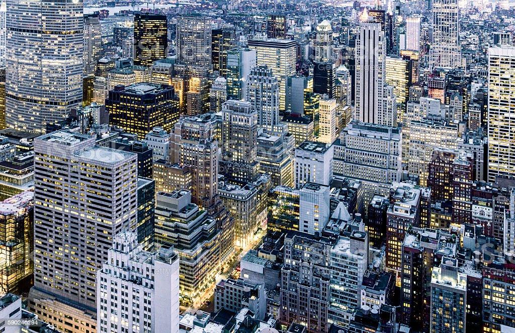 New York City High Angle View stock photo