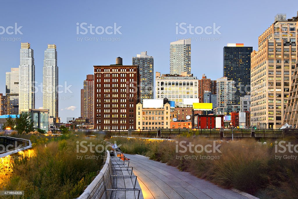 New York City High Line Park stock photo