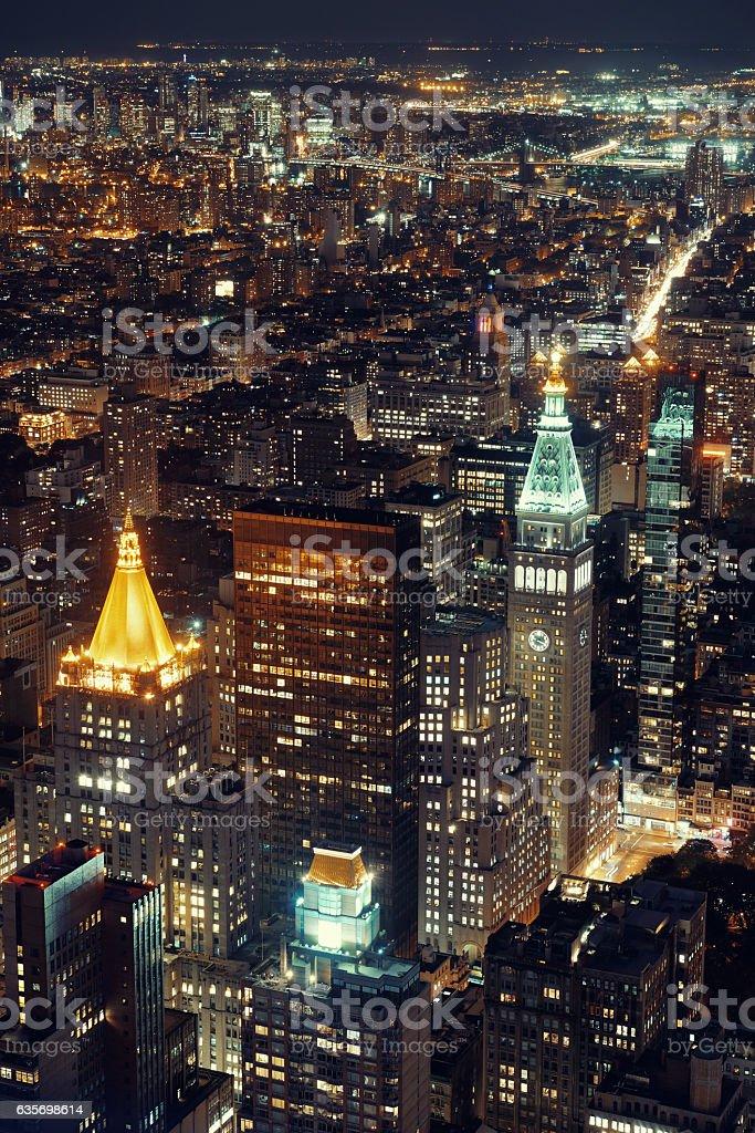 New York City historical skyscrapers stock photo