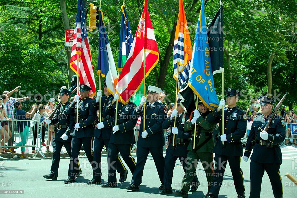 New York City Honor Guard stock photo