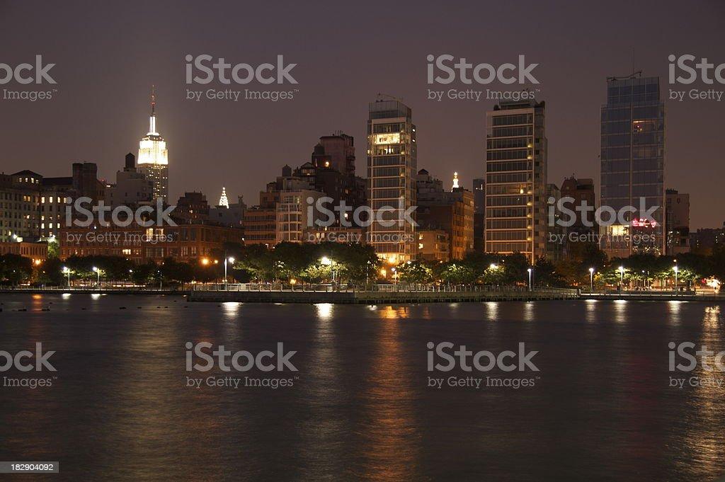 New York City Hudson Skyline stock photo