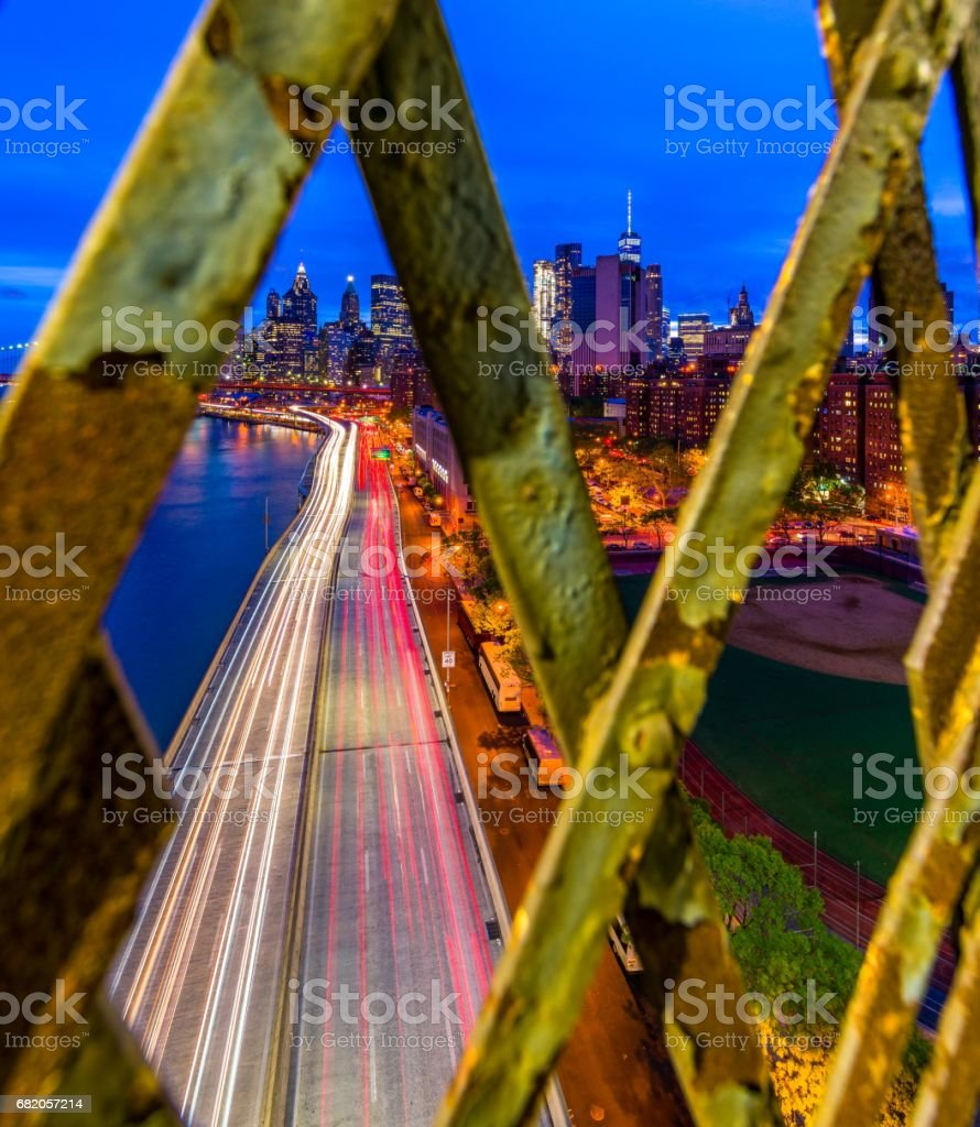 New York City In frames stock photo