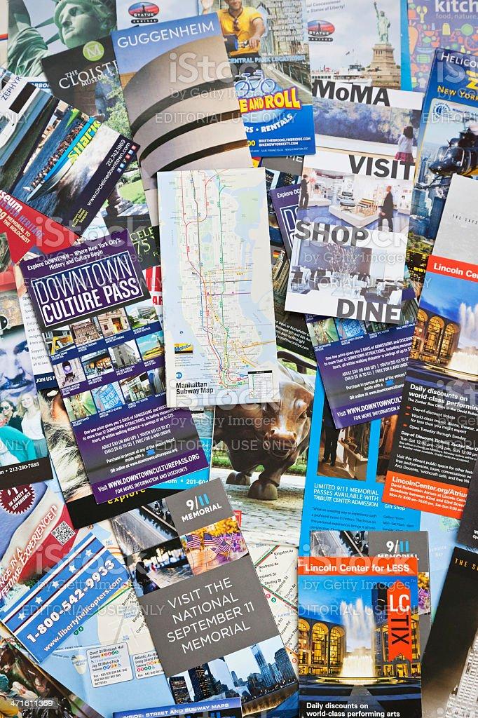New York City Information leaflets # 3 XXXL royalty-free stock photo