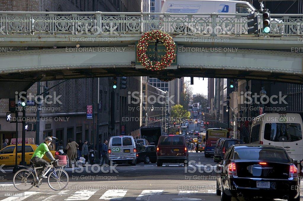 New York City Intersections, Park Ave & E.41st Street scene stock photo