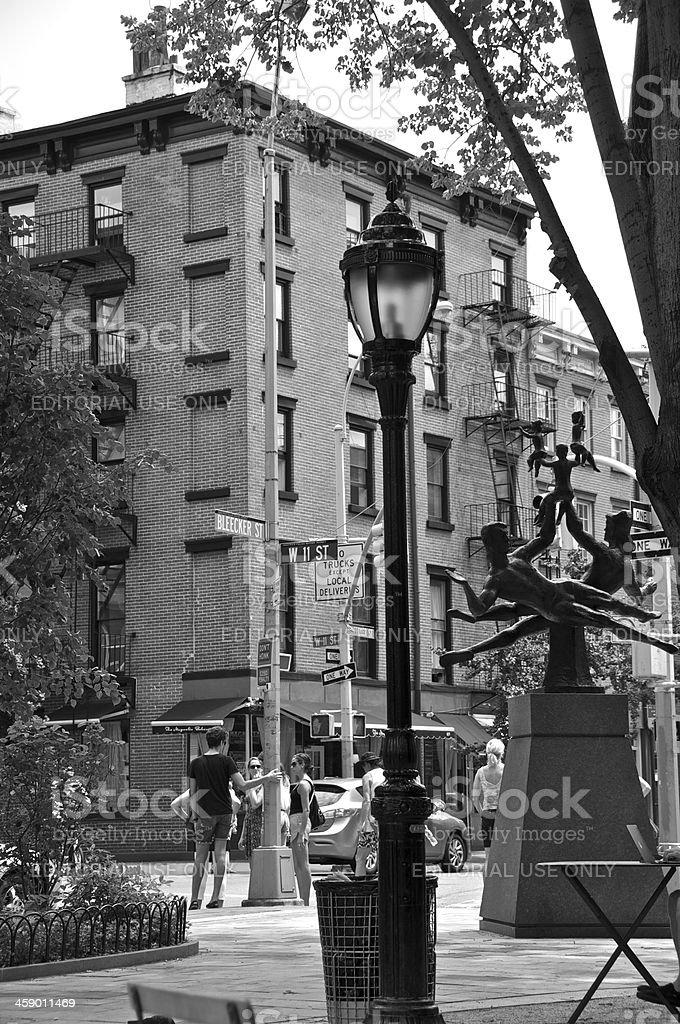 'New York City Intersections, W.11th & Bleecker Streets, Greenwic' stock photo