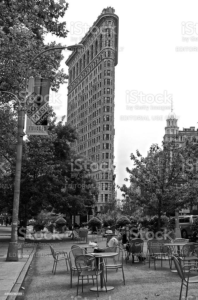 New York City Life, Flatiron Area pedestrian public space, Manhattan stock photo