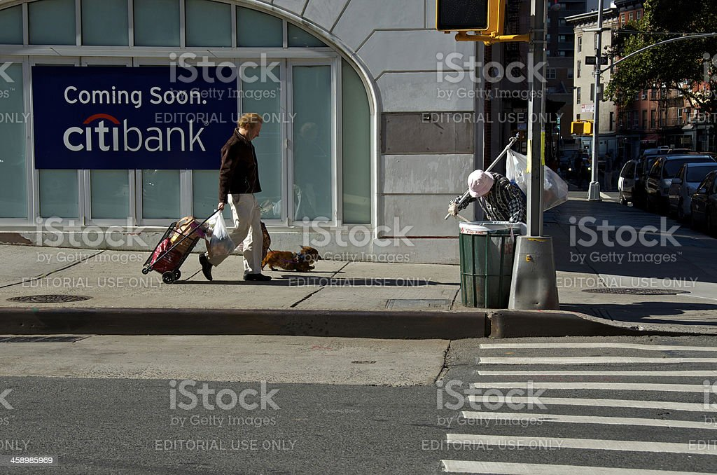 New York City Life Scene, Difference of Two People, Manhattan royalty-free stock photo