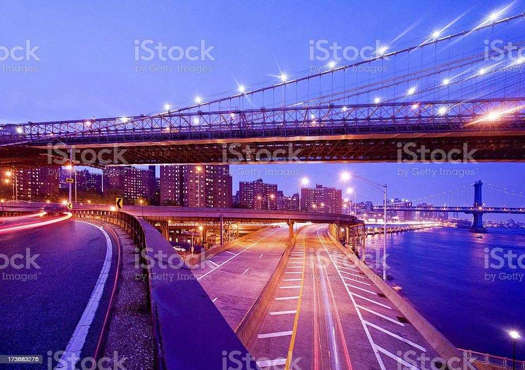 New York City Lights royalty-free stock photo