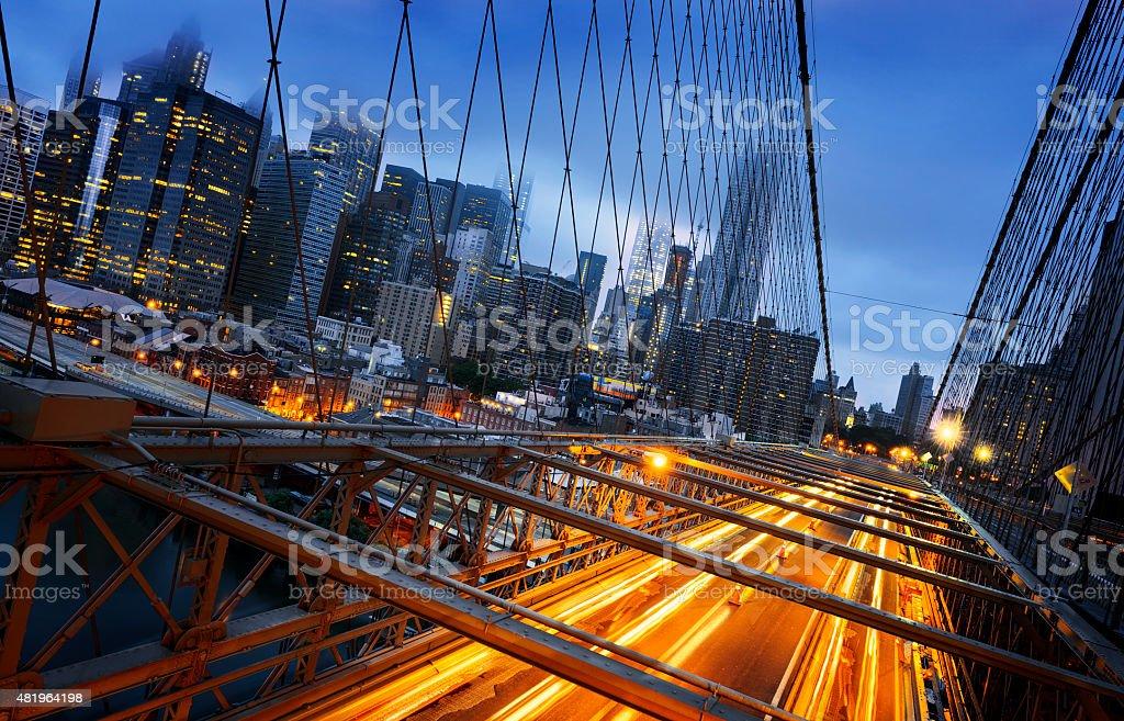 New York  City lights stock photo