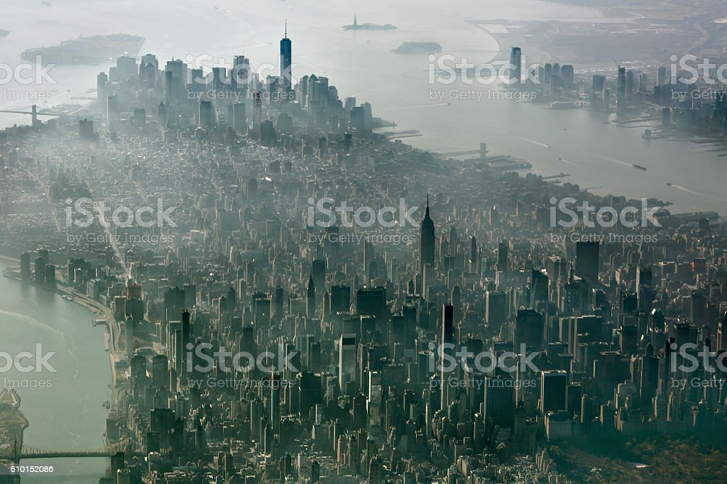 New York City, Manhattan Aerial View stock photo