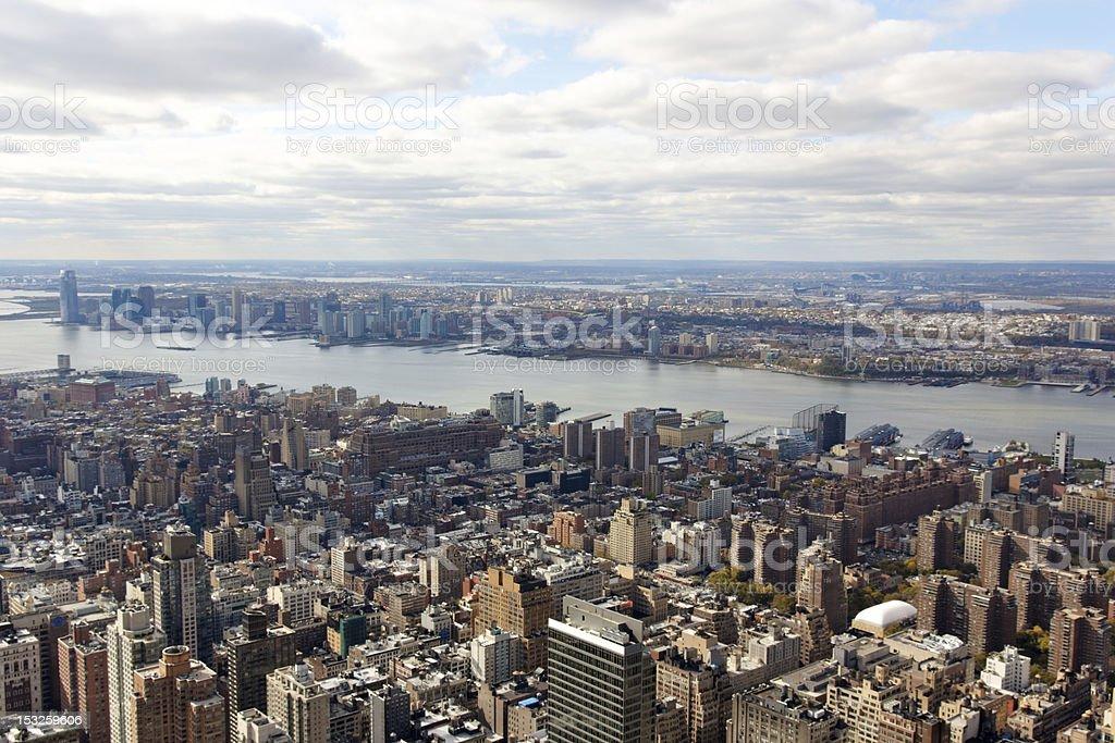 New York City Manhattan Aerial View towards Jersey stock photo