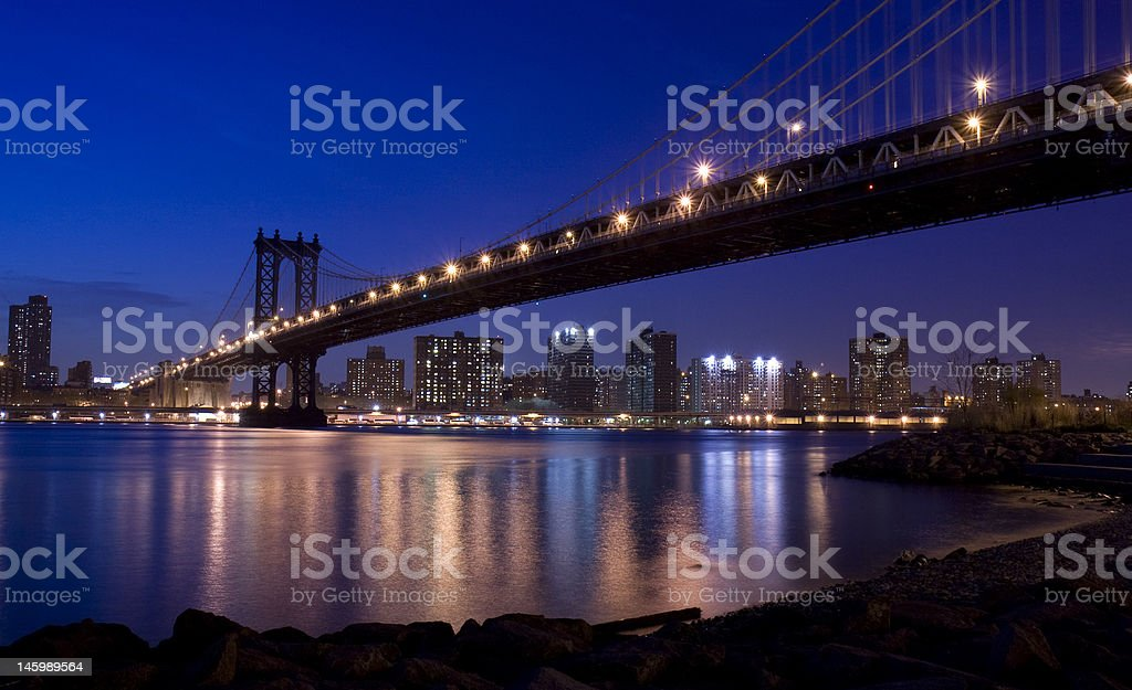 New York City Manhattan Bridge royalty-free stock photo