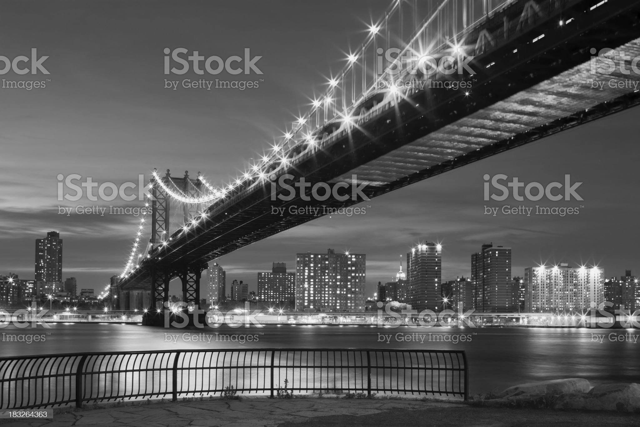 New York City - Manhattan Bridge royalty-free stock photo