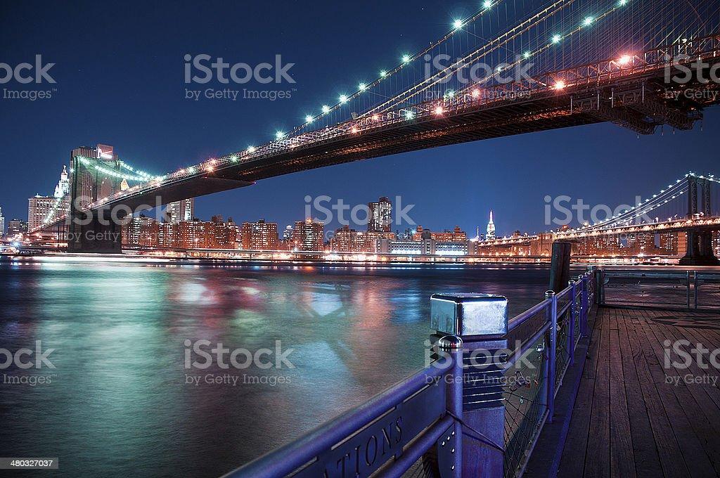 New York City - Manhattan Bridge stock photo