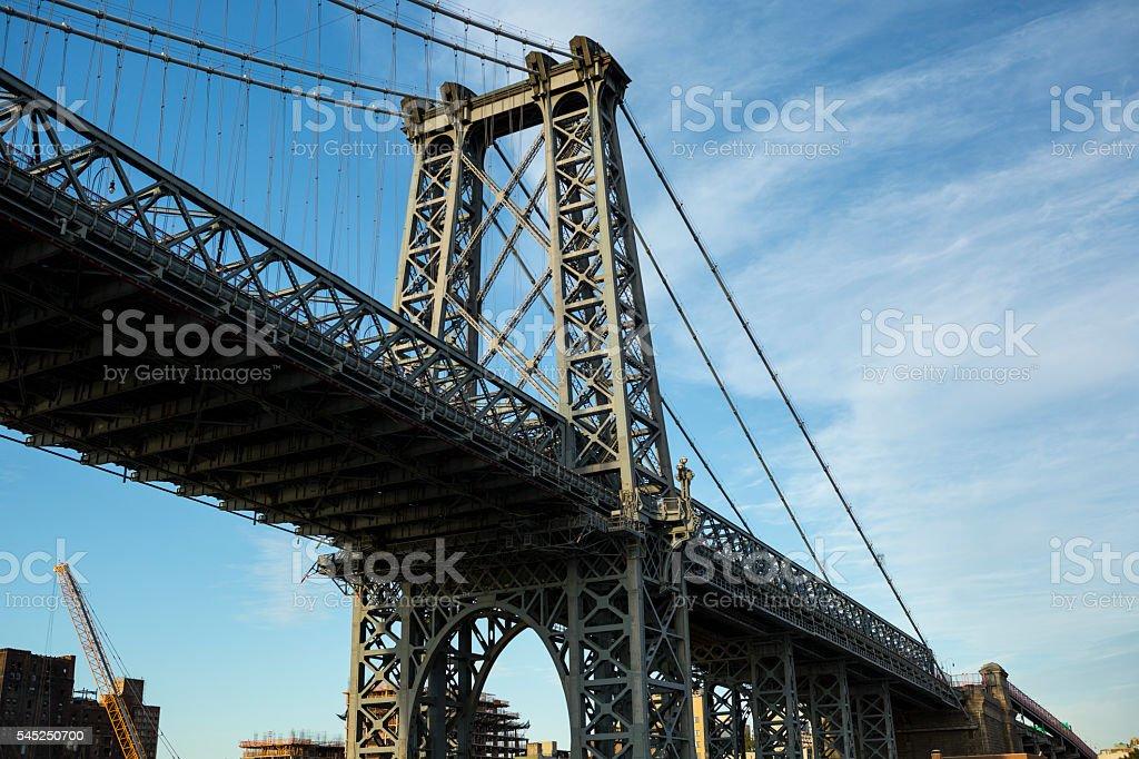 USA, New York City, Manhattan bridge stock photo