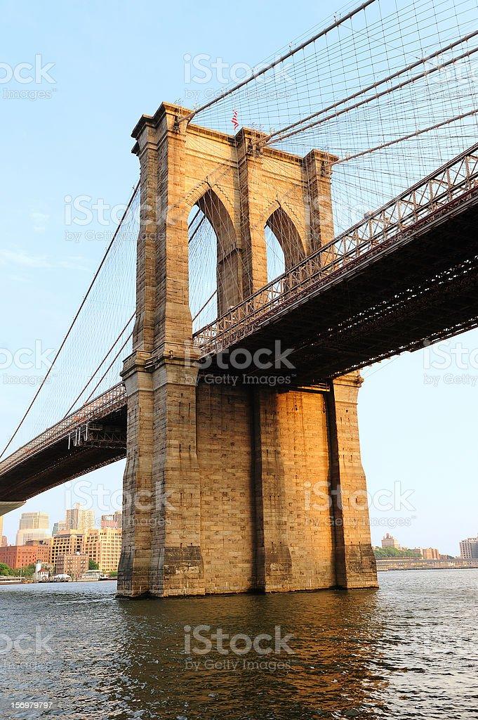 New York City Manhattan Brooklyn Bridge royalty-free stock photo