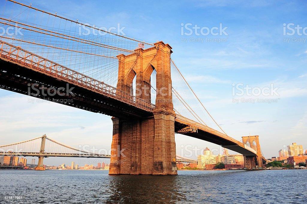 New York City Manhattan Brooklyn Bridge stock photo