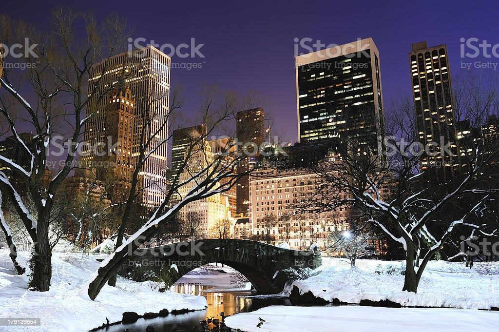 New York City Manhattan Central Park panorama at dusk royalty-free stock photo